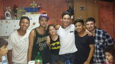 Con mis amigos.