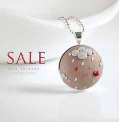 SALE. Hurrying Back Home. Whimsical hand made polymer clay necklace. Made to order. $25.00, via Etsy.