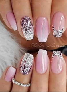 Are you looking for a gel nail art design and ideas? See our interesting collection of gel nail designs. I hope you can find the one you like best. Gel Nail Art Designs, Bride Nails, Wedding Gel Nails, Wedding Nails Design, Best Acrylic Nails, Pretty Nail Art, Nagel Gel, Stylish Nails, Gorgeous Nails