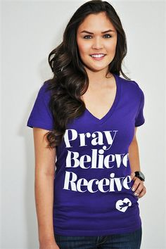 "Pray, Believe,Receive is inspired by Mark 11:24 which reads ""Therefore I tell you, whatever you ask for in prayer, believe that you have received it, and it will be yours."" A simple message about prayer designed to be both fun and fashionable. #pray #believe #prayer"