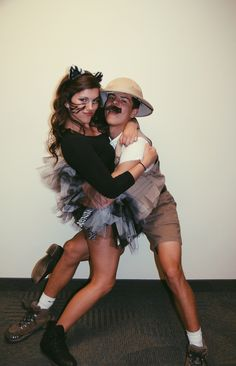 zebra and zookeeper // couple costumes // halloween                                                                                                                                                                                 More