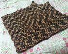 Poncho em crochet (lã)