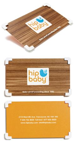 "Clever Foam Cornered ""Baby Proof"" Business Card For A Baby Store"