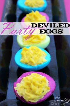 Neon Party Deviled Eggs