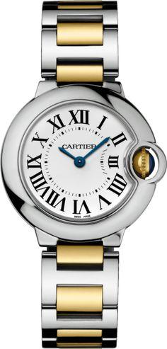 Ballon Bleu de Cartier watch 28 mm, steel, 18K yellow gold