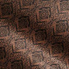 Copper Damask on Black Fine Paper