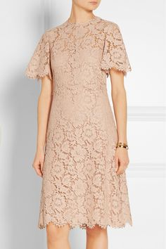 On SALE at OFF! Abito Cotton-blend Lace Dress by Valentino. Fitted at the bust and waist, slightly loose at the hip . Mid -weight, non -stretchy fabric with stretc. Dress Brukat, Kebaya Dress, Batik Dress, Dress Outfits, Party Dress, Fashion Dresses, Prom Dresses, Bride Dresses, Dress Lace