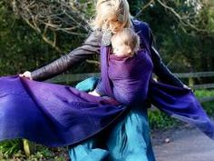 Sekai Gentle Night Baby Wrap by Oscha Slings - beautiful! www.oschaslings.com