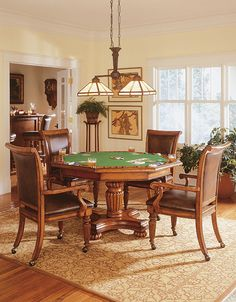Texas Holdem Poker Table reversible hexagonal