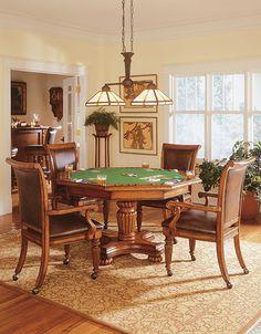 Texas Holdem Poker Table reversible hexagonal