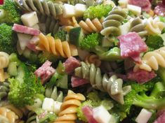 Summer Everything Pasta Salad Recipe - Food.com.  Reviewer suggested cubing the mozzarella cheese instead of shredded.