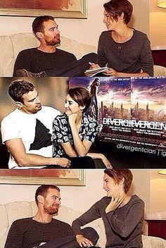 Shailene Woodley and Theo James.