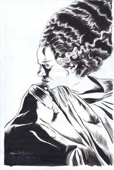 Bride of Frankenstein by ShawnVanBriesen.deviantart.com on @deviantART