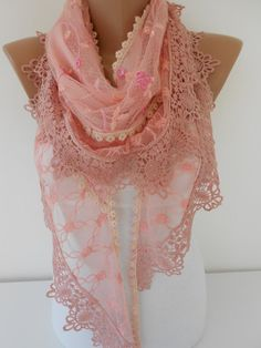 Hey, I found this really awesome Etsy listing at https://www.etsy.com/listing/206826187/lace-scarf-pink-scarf-shawl-tulle-scarf