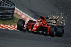 Jean Alesi (Ferrari) - Belgian 1991 Grand Prix at Spa-Francorchamps