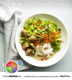 Chicken Meatball Noodle Soup #myplate #letsmove