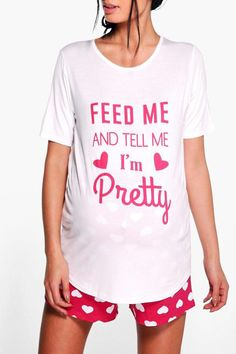 $15 | Feed Me and Tell Me I'm Pretty | Maternity Felicity Feed Me PJ Set | maternity fashion | maternity clothes | maternity pajamas | maternity wardrobe | maternity outfit | #ad