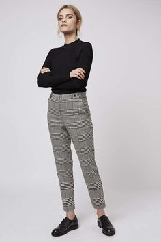 Photo 2 of PETITE Checked Cigarette Trousers