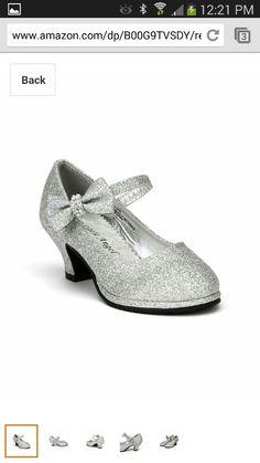 Silver glitter high heels for little girl High Heels For Kids, Glitter High Heels, Silver Pumps, Mary Jane Pumps, Silver Glitter, Mary Janes, My Girl, Little Girls, Oxford Shoes