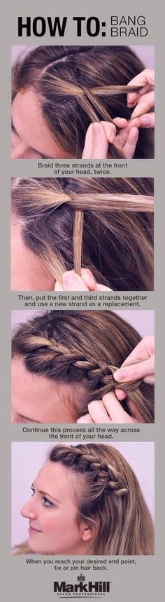 How To Braid A Bang! #Beauty #Trusper #Tip