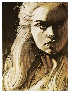 Game of Thrones  Daenerys Targaryen art print by Mygrimmbrother, £7.50