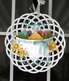 Easter wreath by Nicole Stark for the Samantha Walker Blog Hop.