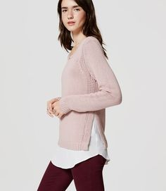 Primary Image of Chunky Two-In-One Sweater