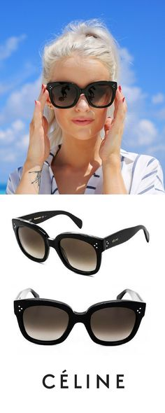 @inthefrow wearing Celine New Audrey sunnies.