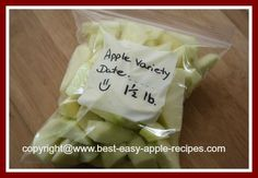 Freezing Apples is EASY! Freeze without sugar too!