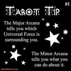 Tarot Tip~Major/Minor Arcana
