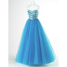 Blue poofy dress.