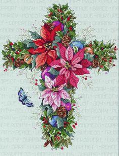 Winter flowers cross