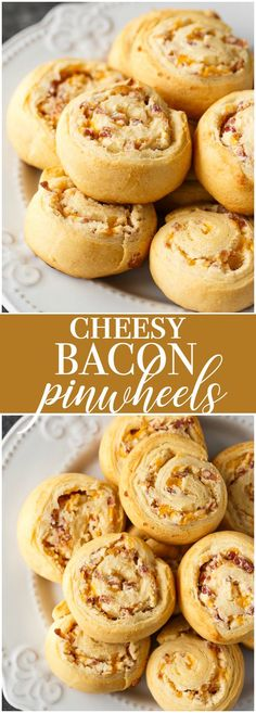 Cheesy Bacon Pinwheels - Serve up some cheesy bacon goodness to your family and friends. This appetizer is quick to make and always a hit.