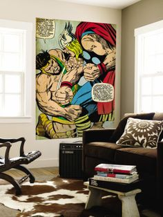 Marvel Comics Retro: Mighty Thor Comic Panel/ Wall Mural. They have lots of other comics available. $124.99