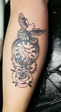 baby tattoos for moms 686517536927060413 Quote Tattoos Girls, Dad Tattoos, Couple Tattoos, Body Art Tattoos, Tattoos For Guys, Clock Tattoos, Lace Tattoo Design, Tattoo Sleeve Designs, Sleeve Tattoos