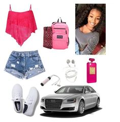 """""""School"""" by zendaya090 ❤ liked on Polyvore featuring Keds, JanSport and PhunkeeTree"""
