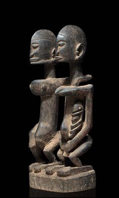 A Dogon couple of the borderdestrict between Mali and Burkina,