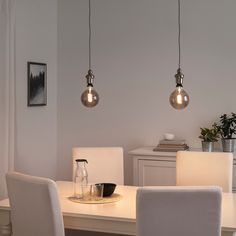 GOTHEM Cord set, dark grey, m. You can choose if you want to use the cord set with a lampshade or with a simple decorative LED light bulb. Ikea Lighting, Chandelier Lighting, Old Lights, Ikea Ps 2014, Estilo Retro, Led Lampe, Incandescent Bulbs, Lamp Bases, Light Decorations