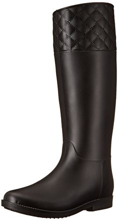 Womens Shoes Pull On Chunky Block Heel Waterproof Rain Mid Calf Boots Candy New