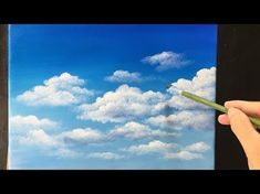 How to Paint Simple, Effective Clouds Free Acrylic Painting Lesson In Real Time - Painting Simple Cl Acrylic Painting For Beginners, Acrylic Painting Lessons, Sky Painting, Time Painting, Beginner Painting, Painting Tips, Painting Techniques, Pour Painting, Online Painting