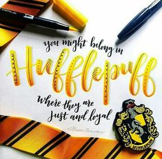 Always Harry Potter, Harry Potter Room, Harry Potter Houses, Harry Potter World, Harry Potter Memes, Hogwarts Houses, Hufflepuff Pride, Hogwarts Crest, Cute Calligraphy