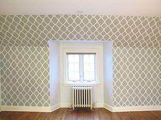 Cutting Edge Stencils - Rabat Pattern Stenciled wall
