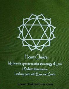 Heart Chakra information. Affirmations, yoga, oils, herbs, meditation.