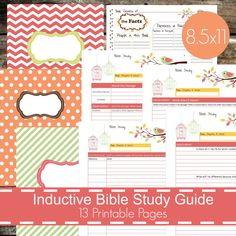 Inductive Bible Study Guide Printables PDF  by HomemadeStephani                                                                                                                                                                                 More