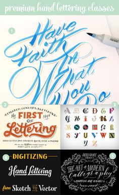 6 Awesome Hand Lettering Tutorials