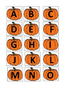 Alphabet pumpkins that can be used in the classroom for children to make their name, as a alphabet line, matching letters etc. Alphabet Activities, Reading Activities, Fall Preschool, Preschool Ideas, Alphabet Line, Pumpkin Printable, Letter Matching, Name Letters, Halloween Activities