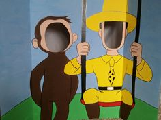 Hey, I found this really awesome Etsy listing at https://www.etsy.com/listing/222304841/curious-george-painted-photo-op-display