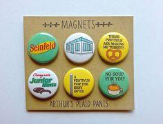 Seinfeld magnets Seinfeld deluxe magnet set by ArthursPlaidPants