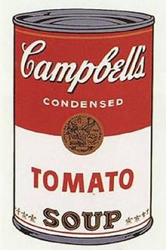 "This painting of a Campbell's soup can was made by the famous American artist Andy Warhol. Andy Warhol is well-known for making the ""Pop Art"" genre famous. Andy Warhol Pop Art, Andy Warhol Museum, Keith Haring, Appropriation Art, Jamie Wyeth, Robert Rauschenberg, Pittsburgh, Art Marilyn Monroe, Campbell's Soup Cans"