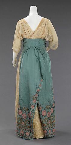 Mme. Jeanne Paquin, Shepherdess-Style Evening Dress, French, 1912. Back View)